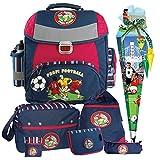 Fußball Power Football Soccer Schulranzen-Set amaro® 8tlg. mit SPORTTASCHE und