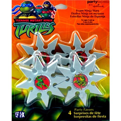 Teenage Mutant Ninja Turtles Vintage Foam Ninja Stars / Favors (4ct) - 1