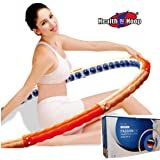 Health Hoop - 6.17lb Weight Loss Passion Magnetic Hula Hoop for Workout 2.8kg Exercise,Fitness Step 4 for Expert (Color: Orange, Pink, Tamaño: Large)