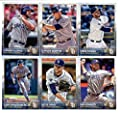 2015 Topps Baseball Cards San Diego Padres Team Set (Series 1- 13 Cards) Including Rene Rivera, Carlos Quentin, Ian Kennedy, Yonder Alonso, Jesse Hahn, Tommy Medica, Andrew Cashner, Everth Cabrera, Rymer Liriano, Jedd Gyorko, Yasmani Grandal Team Card, Co