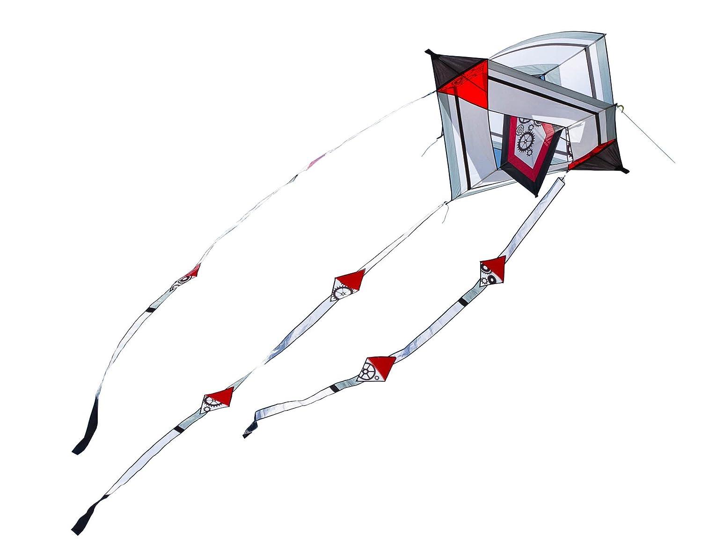 HQ Lenkdrachen Single Line Kite Hoffmanns Gearwheel Box Drachen Kastendrachen günstig bestellen