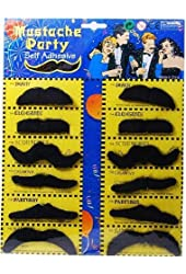 Leegoal Self Adhesive Set 12 Fake Mustaches Costume Party Disguise