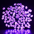 Vmanoo Battery Operated Timer String Lights 200 LED Fairy Christmas Lighting Decor 5 Modes For Outdoor, Indoor, Garden, Halloween, Patio, Bedroom Wedding Decorations (Purple)