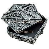 Knights Templar Pentagram Sabbatic Goat Baphomet Satan Faux Stone Jewelry Box