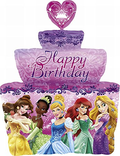 Anagram International 2646201 Princess Birthday Cake Shop Balloon Pack, 28""