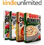 COOKBOOKS: Dump Dinners Cookbook, Pressure Cooker Cookbook, Mediterranean Diet and My Spiralized Cookbook Box Set: 100+ Of The Most Delicious And Simple Recipes You Need To Know (Cookbooks, Cookbook)