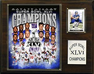 NFL New York Giants Super Bowl XLVI Champions Plaque by C&I Collectables