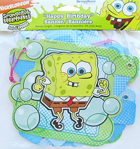 """Happy Birthday"" Spongebob Bubbles Banner"