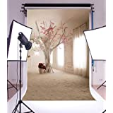 Laeacco 3x5ft Thin Vinyl Photography Backdrop Photo Background Studio Props 1X1.5M Indoor Background Art Design Floral Tree Painting Portraits Backgro