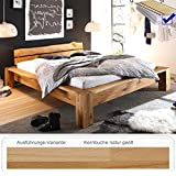 Massivholzbett Franco 180x200 Kernbuche + Lattenrost + Matratze Holzbett Doppelbett Ehebett Bett Schlafzimmer