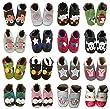 coolMYP�chromfreie Krabbelschuhe, Baby Schuhe , Lederschuhe ohne Chrom, Lernlaufschuhe (M, schwarz-Jolly Roger)