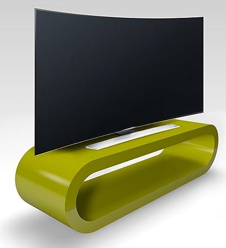 Stile Retrò Cerchio Grande Lucido Porta Tv / Armadietto 110 cm Verde