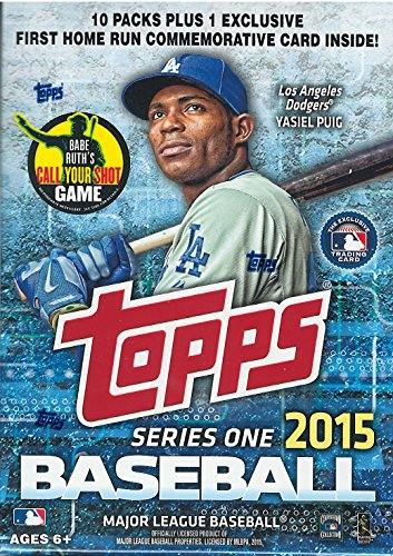 2015 Topps MLB Baseball Series #1 Unopened Blaster Box with 10 Packs of 10 Cards Plus One Exclusive First Home Run Commemorative Medallion Card
