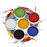 CCbeauty Professional Face Body Paint Art Makeup Set Halloween Party X'Mas (6 Colors Painting) (Color: 6 Colors Painting)