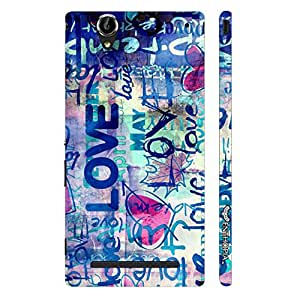 Enthopia Designer Hardshell Case I Love Me Back Cover for Sony Xperia T2 Ultra