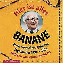 Hier ist alles Banane: Erich Honeckers geheime Tagebücher 1994 - 2015 Hörbuch von Jorge Nicolás Sanchez Rodriguez Gesprochen von: Reiner Kröhnert