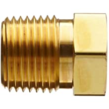 Parker Brass Pipe Fitting, Reducing Hex Head Bushing, NPT Male X NPT Female