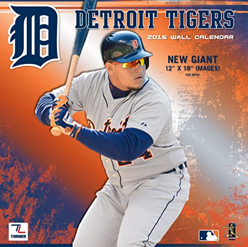 "Turner Detroit Tigers 2016 Team Wall Calendar, September 2015 - December 2016, 12 x 18"" (8011849)"