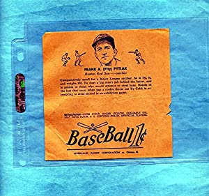Buy 1938 R301 Overland Candy Baseball Wrapper Frank Pytlak by Dan's Vintage Cards