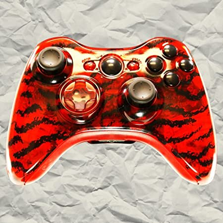 Clear Red Tiger Stripe Controller Mod Kit