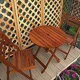 Hardwoodガーデンテーブル&チェアセット ガーデンファニチャー 折りたたみ式