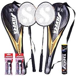 Silver's Blacken 2 Racquets, 1 Box S/C Marvel, 2PVC Grip Badminton Racquet (Multicolor)
