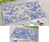 Reversible Butterfly Patio Mat Outdoor Rug
