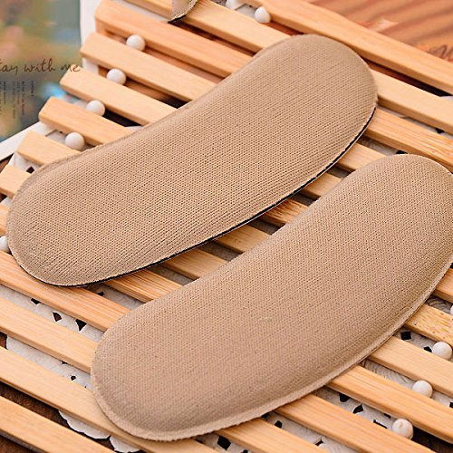 ZGY 10 Pair Self Adhesive Strong Sticky Fabric Shoe Back Heel Inserts Insoles Protector Pads Cushion Grips