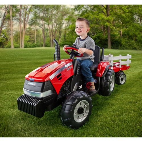 Peg Perego Case Ih Magnum Tractor And Trailer 12-