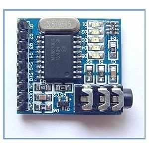 KOOBOOK 5Pcs MT8870 DTMF Voice Decoder Decoding Module Telephone/Audio Decoder Speech Module for Arduino (Color: 5PCS)