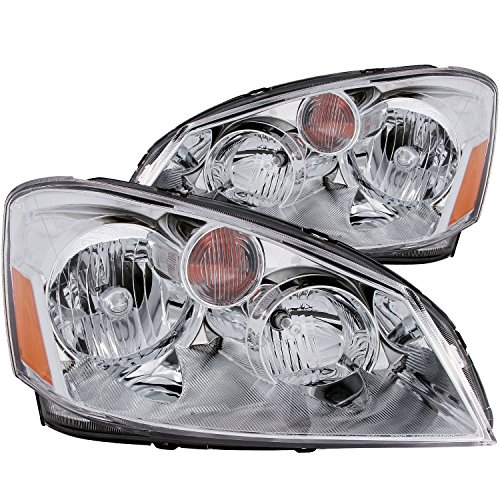 AnzoUSA 121294 Crystal Clear/Amber Headlight for Nissan Altima - (Sold in Pairs) (2006 Nissan Altima Headlights compare prices)