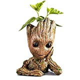 Groot Planter Pot Baby Flowerpot Cartoon Cute Model Pen Container Guardians Action Figures Toy Best Gift 5.3
