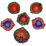 Hand Printed Indian Decorative Diwali Diya