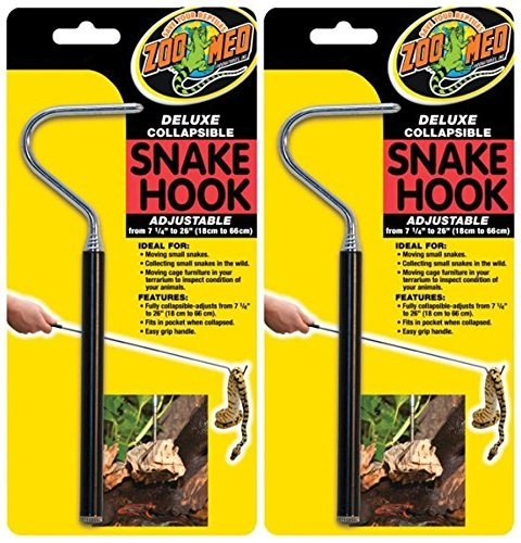 (2 Pack) Zoo Med Deluxe Collapsible Snake Hook