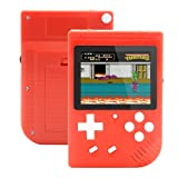 Augstar Handheld Game Console, Retro FC Game Console 3 Inch 400 Classic Game Video Portable Mini Player Game Console,Birthday Gift for Boy Kid Adult - (Red) (Color: Red)