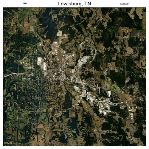 Lewisburg, Tennessee aerial photograph