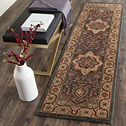 Safavieh Mahal Collection MAH656E Traditional Oriental Navy and Natural Runner (2\'2\