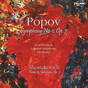 Popov Symphony 1 / Shostakovich Theme And Variations