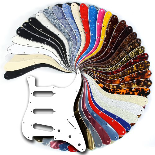 30 Colours - SSS Scratchplate / Pickguard for Strat / Stratocaster Scratch Plate Pick Guard