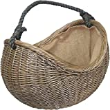 Laver Antique Rope Handled Wicker Basket Porter