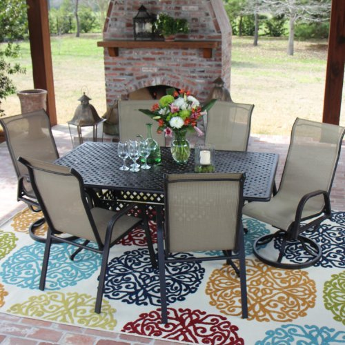 Madison Bay 6 person Sling Patio Dining Set With Cast