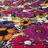 """Floral Algodón Multicolor Tela Voile Diseñador Ancho 42 """" Vestido de Scotland Yard"""
