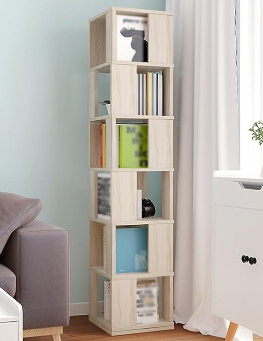 WSSF- Scaffale per libri Scaffale girevole di 360 ° scaffale semplice degli studenti scaffale di stoccaggio del salotto di pavimento scaffali creativi multifunzionali creativi della casa dimensione facoltativa ( dimensioni : 34*34*190.4cm )