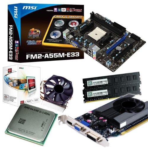 tronics24 PC Aufrüstkit   AMD A4-5300 2x 3.4GHz Dual-Core   Nvidia GeForce GT630 4GB
