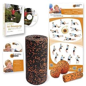 Blackroll Orange (Das Original) - DIE Selbstmassagerolle - Vital-Set STANDARD plus - inkl. Übungs-DVD und Übungs-Poster