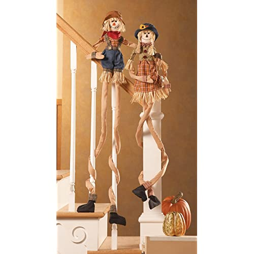 Fall Scarecrow Wrap Stair Hugger Decoration Girl