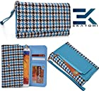 Ekatomi ™ METRO RETRO Wallet Wirstlet Case Clutch Cover ( TEAL BLUE -BLACK) Blu Studio 5.0 S D570