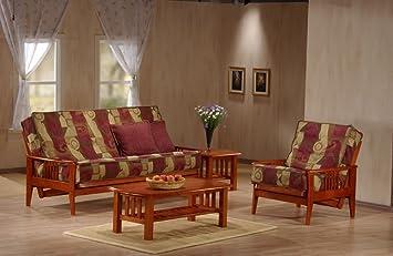 J&M Furniture 175651-F-RSWD Capri Futon Frame