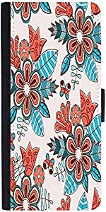 Snoogg Abstract Floral Backgrounddesigner Protective Flip Case Cover For Lg G4