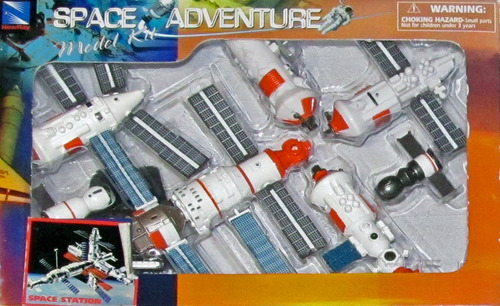 NASA Space Adventure Child Plastic Toy Model Kit - Space Station